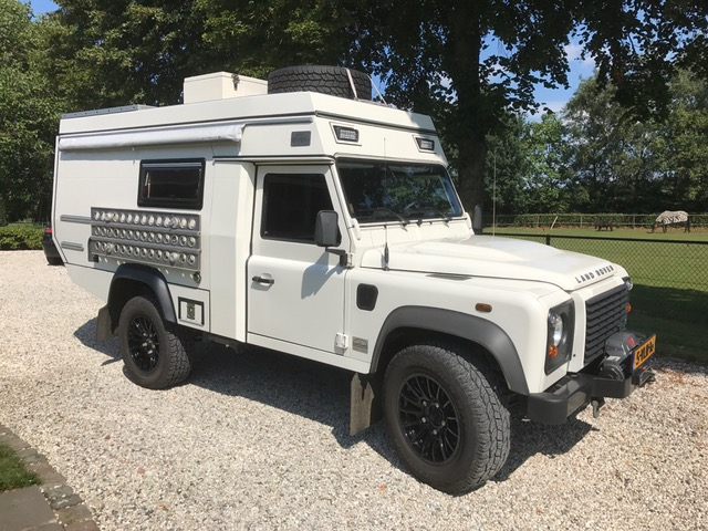 White Land Rover Defender Overland Vehicle for Sale Holland
